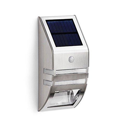 Solalite® Solar-Licht für den Außenbereich, 4Stück, Wandleuchte, mit Passiv-Infrarot-Bewegungssensor, super helles Nachtlicht mit 2 LEDs, Wegleuchte, für Zaun, Garten, Pfad