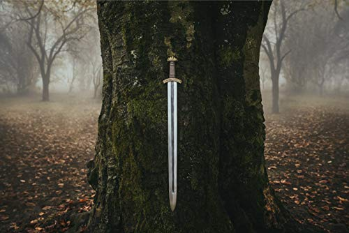 "Norse Tradesman Spring Steel Viking Sword - Single Handed Grip w/Premium Leather Belt & Scabbard - Completely Battle-Ready - ""Eldbroti"