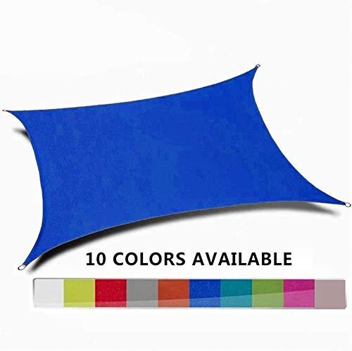 YYF Rectangle Sonnensegel Wasserdichtes Zelt Tarps 95{e2ecc343307caf93ff03209bc1ecf2f6180477b20fde61fc02348671a441a281} UV-Block Für Garten Terrasse Obere Abdeckung,Blue-4x6m