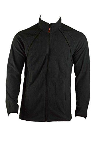 Livergy Herren FLEECEJACKE Freizeitjacke Sweatjacke Sport Jacke Blau oder Schwarz, Farbe:Schwarz;Größe:XL