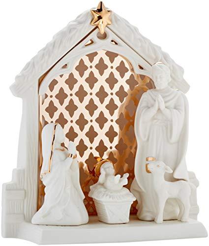 Lenox Illuminations Lit Nativity Scene, 2.55 LB, Ivory