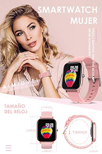 AIMIUVEI Smartwatch, Reloj Inteligente IP67 con Pulsómetro, Presión Arterial, 7 Modos de Deportes y GPS, Monitor de… 4