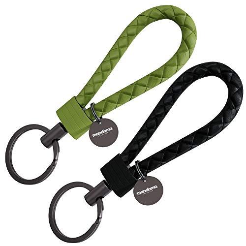 mandoma Llavero para hombre y mujer – 2 colgantes para llaves negro y verde Talla única
