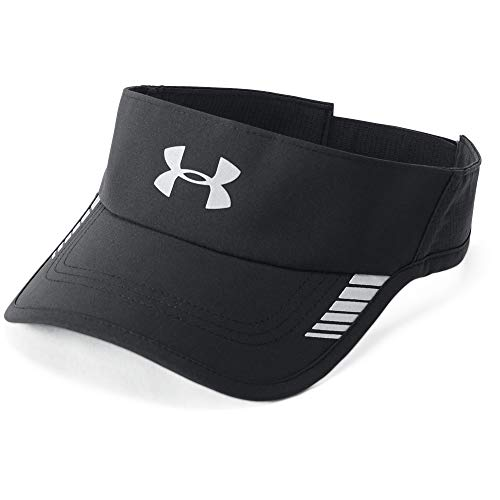 Under Armour Men's Launch ArmourVent Visor , Black (001)/Silver , One Size Fits All