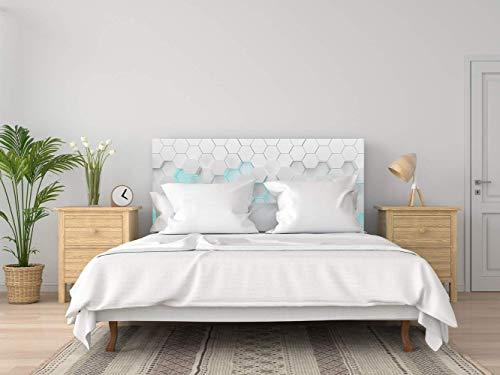 Kopfteil Bett PVC Futuristisches Weiß   Verschiedene Maße 150x60cm   Einfache Platzierung   Raumdekoration   Landschaftsmotive   Natur   Urbes   Multicolor   Elegantes Design