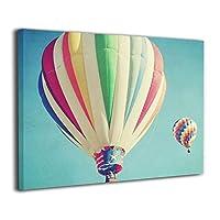 Skydoor J パネル ポスターフレーム 熱気球 虹色 インテリア アートフレーム 額 モダン 壁掛けポスタ アート 壁アート 壁掛け絵画 装飾画 かべ飾り 30×20