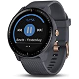 Garmin Vivoactive 3 Music, Multisport GPS Watch with Music Storage, Built-in Sports Apps, Automatic Sync and Supports Spotify, Granite Blue with Rose Gold Hardware (Renewed)