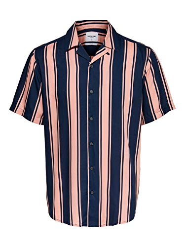 Only & Sons Onswayni SS Striped Viscose Shirt Noos Camisa, Misty Rose, L para Hombre