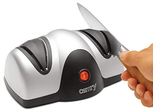 Camry CR-4469 Afilador de Cuchillos el&eacutectrico, plastico, Gris, 0