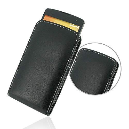 PDair Handarbeit Leder Hülle - Leather Vertical Pouch Case for LG L Fino Dual D295F