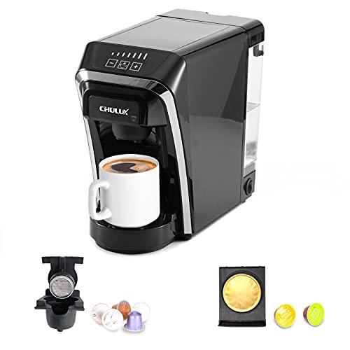 Macchina da caffè a capsule, macchine da caffè monodose multifunzionali Chulux compatibili per capsule Nespresso e Dolce Gusto per uso domestico