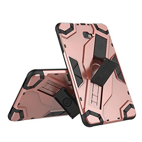 Tablets Duras Tablet Funda para SSAMSUNG Galaxy Tab A6 10.1 (2016) T580 / T585, TPU + PC Cubierta Protectora multifunción a Prueba de Golpes con asa Plegable Tablets Fundas (Color : Pink)