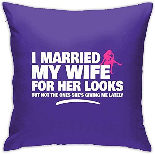 Divertida Funda de Almohada Cuadrada de Aniversario de Matrimonio para el hogar, sofá Decorativo, 18 'x 18' Pulgadas, Ultra Suave, cómodo