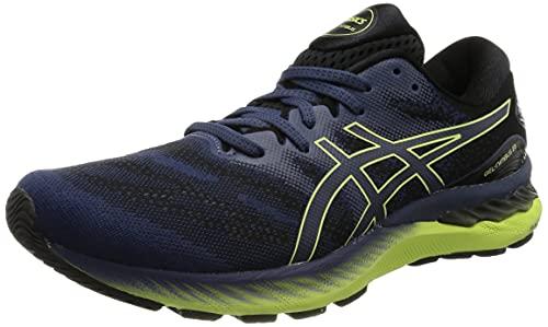 Asics Gel-Nimbus 23, Zapatillas para Correr Hombre, Thunder Blue/Glow Yellow, 42.5 EU