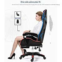 LWW 椅子、机チェアオフィスチェアコンピュータチェアホームスイベルチェアゲームチェアのランチブレイクe-スポーツチェアリクライニングリフト,ゴールド