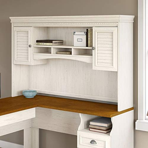 Hutch for L Desk 60.27' W X 12.28' D X 38.22' H - Antique White