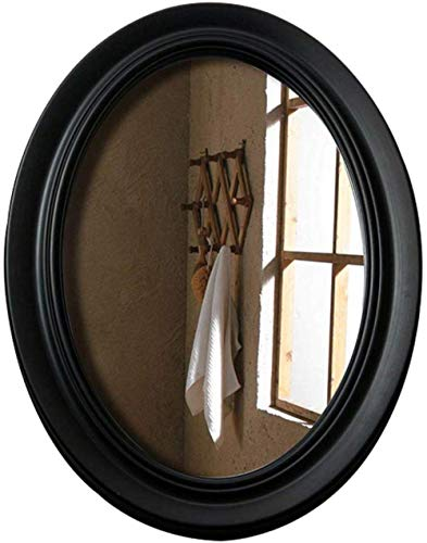 Mirror Anti-Fog Makeup,Wall,Oval Bevelled Shaving,Shower,Home Decorative Hanging for Bathroom Table Top Bedroom,Black