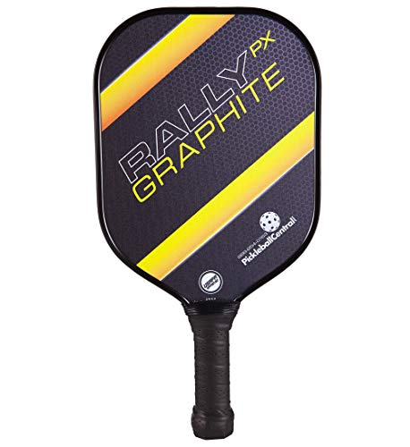 Rally Graphite Pickleball Paddle PX | Polymer Composite Honeycomb Core, Graphite Carbon Face | Lightweight | USAPA Approved | Yellow