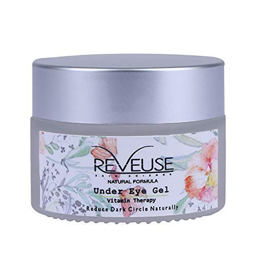 Reveuse 30g Natural Vitamin Therapy Under Eye Gel to Remove Dark Circles, Eye Bags, Puffiness & Fine Lines With Hyaluronic Acid, Almond & Clove Oil for Men and Women (30g/1.05oz)