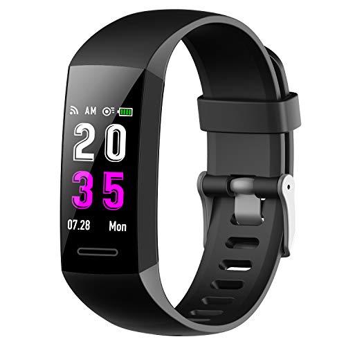 Feob Montre connectée Cardio Bracelet Connecté Femme Homme Sport Pédomètre Sommeil Smartwatch Tension Artériel Tracker D'activité GPS Montre Running