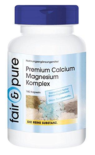 Calcio e magnesio - Complesso di calcio e magnesio Premium - Gluconato di magnesio e calcio - 180 Capsule