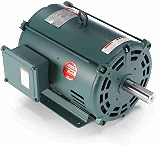10 hp 1760 RPM 215T Frame 208-230/460V Open Drip Leeson Electric Motor # 140472