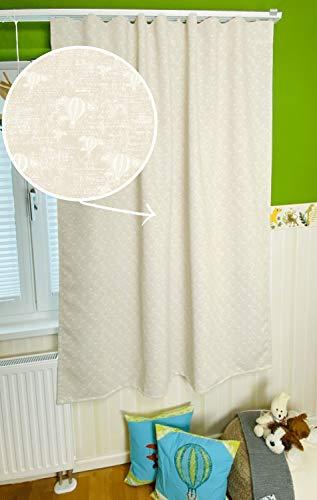 KeenBeagle® Verdunkelungsvorhang - blickdichte Gardine   1 Schal aus gewebtem Verdunkelungssatin   für Gardinenschienen & -stangen   mit Kräuselbandfunktion   Beige (145 x 175 cm)