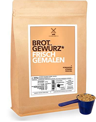 Brot-Gewürz-Mischung frisch gemahlen 800g Dachstein Natur Mix aus Koriander Kümmel Fenchel inkl Dosierlöffel
