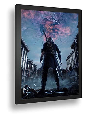 Quadro Decorativo Poste Devil May Cry 5 Nero Classico Retro
