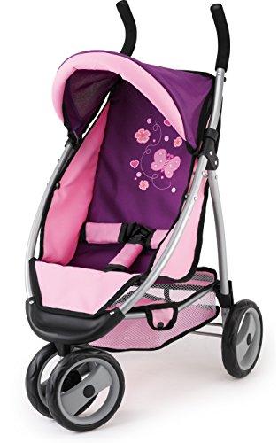 Bayer 'Jogger' 3 Ruote Dolls Carrozzina / Passeggino Con Pink Pattern 37 X 52 X 69 Centimetri [Toy]