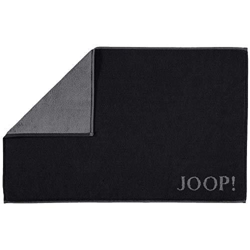 Joop! Badematte Classic Doubleface 1600 Schwarz/Anthrazit - 90 50x80 cm 50x80 cm