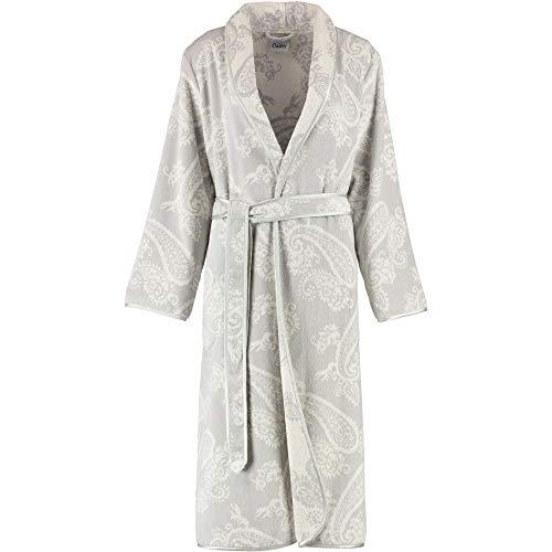 Michaelax-Fashion-Trade Cawö - Damen Velours Bademantel mit Schalkragen in Silber (4420), Größe:36, Farbe:Silber (73)