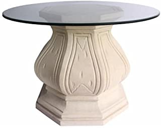 Anderson Teak Louis XIV Pedestal Table in Natural Beige