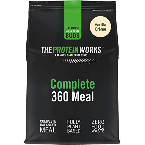 Complete 360 Meal | Crema de Vainilla | Nutricionalmente Equilibrado | 100% vegano | Comida rápida y asequible | THE PROTEIN WORKS | 500g