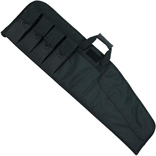 "AUMTISC Rifle Case Soft Shotgun Case for Scoped Tactical Ar15 Rifles with External Magazine Pockets Foam Padding Lockable Zipper Adjustable Shoulder Black 36"""