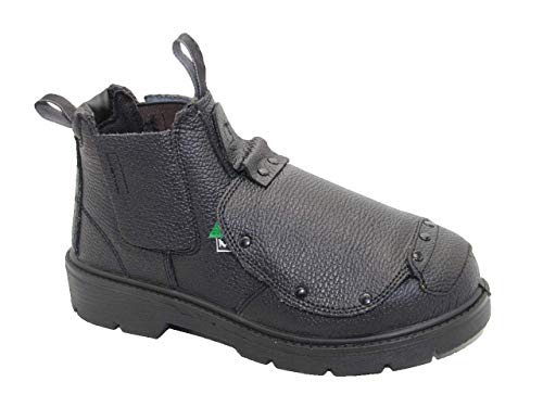 DOLPHIN D10 CSA Approved Safety Shoes, Work Boots, Construction Boots (11 Men US Wide) Black