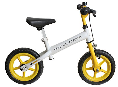 M-Wave Tour de France Bicicleta Infantil, Unisex Adulto, Blanco, 12 Pulgadas