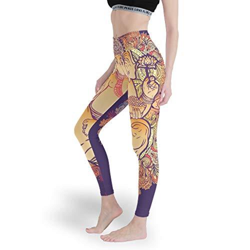 Leggings da ginnastica da donna con elefante yoga per stretch,Pantaloni di controllo della pancia,Pantaloni sportivi slim fit per le donne bianco 3XL