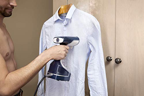 Tefal DR8085 Access Steam Garment Steamer – White and Blue by Tefal