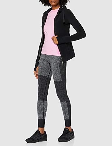 Marca Amazon - AURIQUE Mallas de Deporte sin Costuras de Tiro Alto Mujer, Negro (Black), 40, Label:M
