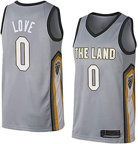 jiaju Ropa Baloncesto para Hombre NBA Jersey Cavaliers 0# Love 2021 Transpirable Secado rápido Resistente al Desgaste Vestima sin Mangas para Deportes, Rojo, m (Color : Gray, Size : L175-180CM)