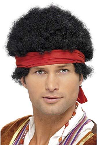Perruque noire rock homme