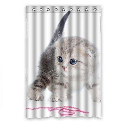 Dalliy Duschvorhang mit Katzenmotiv, Polyester, 120 x 183 cm