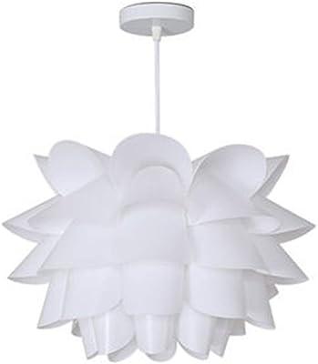 IJ INJUICY Modern Lotus Chandelier PP Lampshade Flower Ceiling Pendant Light Fixture for Living Dining Room Restaurant Bedroom Balcony Aisle Porch Bar Decorative Art Pendant Lamp (Dia. 11.8 Inch)