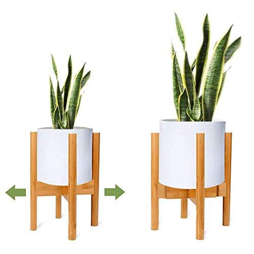 Verstellbarer Pflanzenständer, Moderner Erweiterbarer Blumenregal, Holz Pflanzenregal Blumentopfständer (1 Stück)