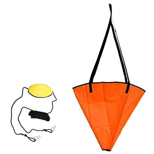 Ancla de mar de 24 pulgadas para barcos de 14-16 pies, y 30 pies de kayak cuerda de remolque con clip de 304 acero inoxidable. Material resistente y duradero con correa reforzada. Diseño portátil y compacto, se puede almacenar fácilmente en lugares d...