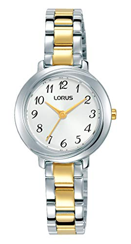 Lorus Klassik Damen-Uhr mit Palladiumauflage und Metallband RG283PX9