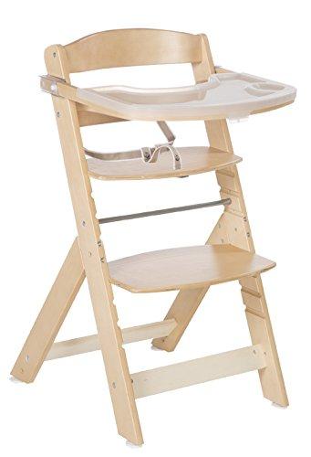 roba Treppenhochstuhl 'Sit Up Super Maxi', extragrosser Hochstuhl mit spülmaschinenfestem Essbrett, mitwachsend, Babyhochstuhl bis Jugendstuhl, Holz, natur