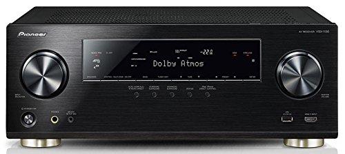 Pioneer VSX-1130-K 7.2 Netzwerk-Mehrkanal Receiver (Aluminium-Front,165 Watt Pro Kanal,Dolby Atmos,WiFi, Bluetooth, Ultra-HD Video Scaler,HDCP 2.2,App Steuerung, Airplay,DLNA, Spotify Connect) schwarz