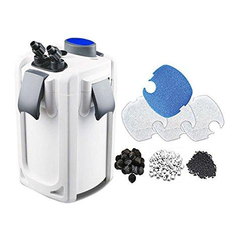 SunSun HW703B 370GPH Pro Canister Fish Tank Filter Kit with 9-watt UV Sterilizer